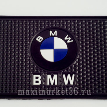 kovrik-antiskatnyi-silikonovyi-15smh10sm-s-logotipom-bmw