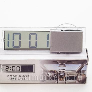 Часы автомобильные электронные прозрачные на стекло (на присоске)