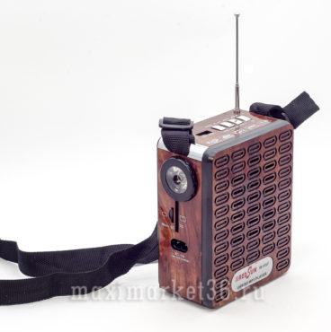 Портативная стереоколонка беспроводная 913 коричнев красная и синяя MRM X-BASS