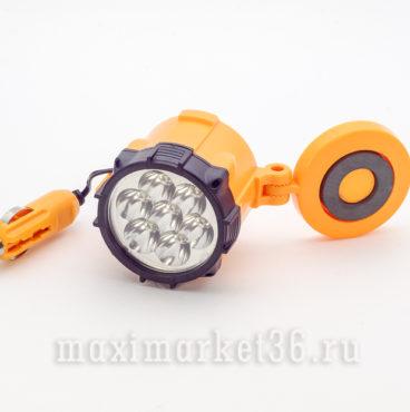 Лампа переносная 7 LED на магните со штекером в прикуриватель 12V_