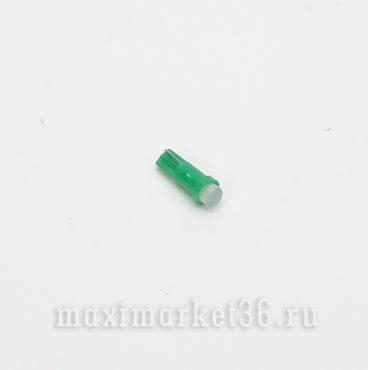 Автолампа W1,2W ) 12V 1 SMD COB керамика GREEN РОСТ