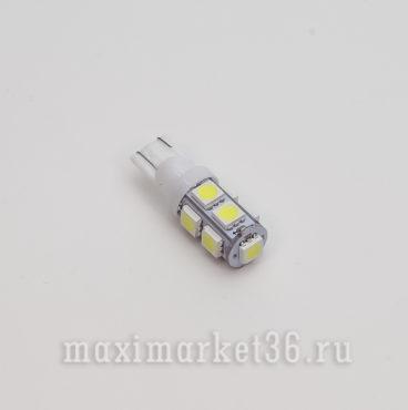 Автолампа W20W 9 SMD (50х50) 24V светодиодов без обманки РОСТ