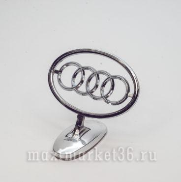 Эмблема на капот (прицел) AUDI металлическая на самоклейке(скотч 3М)