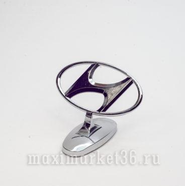 Эмблема на капот (прицел) HYUNDAI металлическая на самоклейке(скотч 3М)
