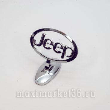 Эмблема на капот (прицел) JEEP металлическая на самоклейке(скотч 3М)
