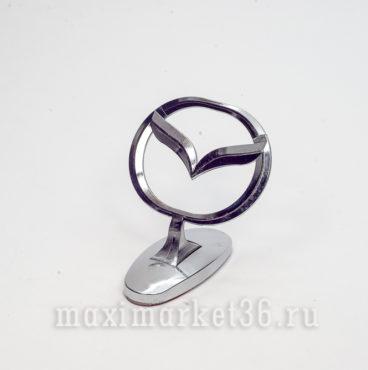 Эмблема на капот (прицел) MAZDA металлическая на самоклейке(скотч 3М)