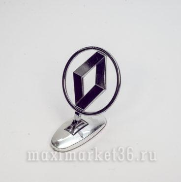 Эмблема на капот (прицел) RENAULT металлическая на самоклейке(скотч 3М)