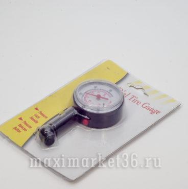 Манометр автомобильный TG-5101 BLACKCHROME с круглой шкалой 3,5атм (пластик)_
