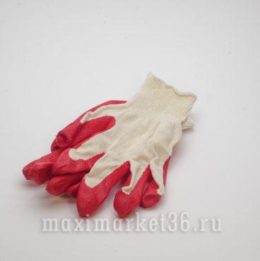 Перчатки XБ с 1-ой заливкой красн