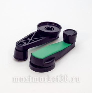 Ручка стеклоподъемника метал(цвет зелёный) пара в блистере_
