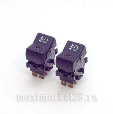 Выключатель противотуманных задних фар с индикатором без фиксации ВАЗ 2101-07_