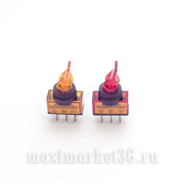 Выключатель светящиеся (4цвета) дополнительный, тумблеры (карамелька)