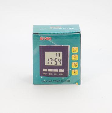 Часы 007 SH691 чёрные+будильник 5365