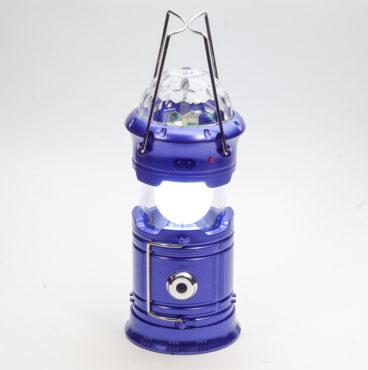 Фонарь 096 5801PV(220V зарядка)синий,золотой кемпинг раздвиж (с USBвых) + СВЕТОМУЗЫКА 9326 9319