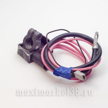 Клемма аккум свинцовая с проводами в изоляции + 08