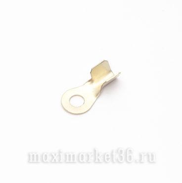 Клемма проводки (желт.) d = 10 мм (на сварку) усил