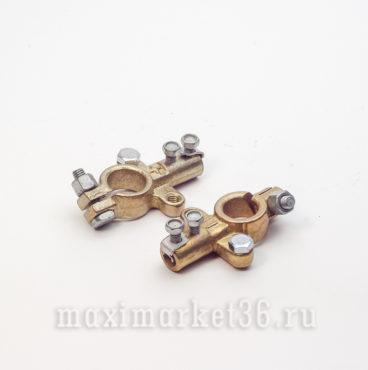 Клеммы аккумуляторные (белая лужёные евро ) Каменец-Подольский SUPER