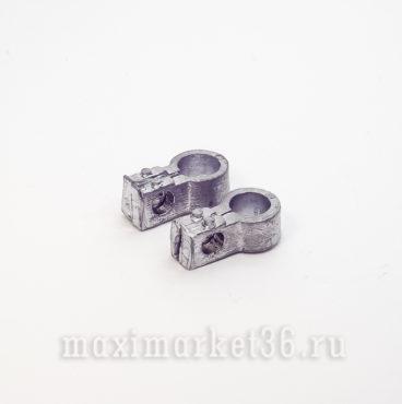Клеммы аккумуляторные свинцовые грузовые прямые (хорошие)(хомут) Ростов