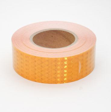 Лента светоотраж для грузовой спецтехники (жёлтая) Призма высокой интенсивности 50мм*23мDA-01271