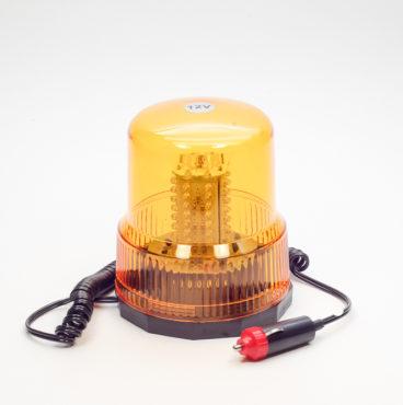 Маяк импульсный 12В светодиодный, магнит+стационар жёлтый (стакан h=150мм,d=125мм) DA-01822