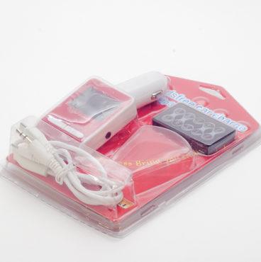 Модулятор FM 8 в 1 12_24V 031 11 красный (microSDHC,AUX, USB) 8717