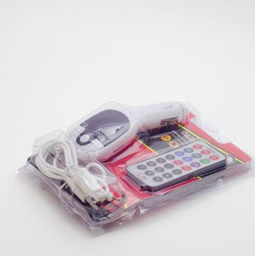 Модулятор FM 8 в 1 12_24V 033 12 белый (microSDHC, USB) 8779