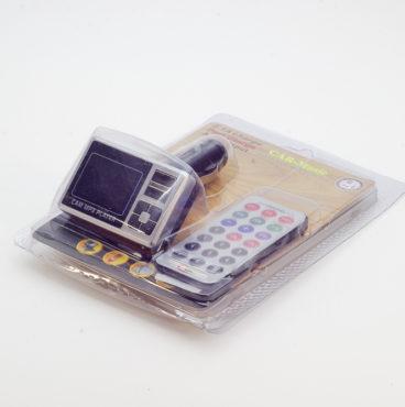 Модулятор FM 8 в 1 2,1А 027 9002 серебро (microSDHC,AUX,2 USB)8687