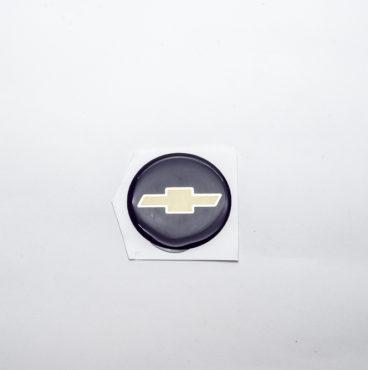 Орнамент руля Нива-Шевроле круглая чёрный фон