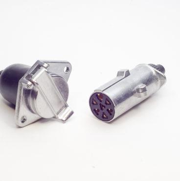 Прицепное устройство (разъём фаркопа) металл 24В (вилка+розетка) DA-NP359