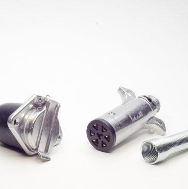 Прицепное устройство (разъём фаркопа) металл с пужиной 24В (вилка+розетка) DA-NP360