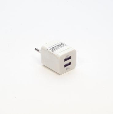 ЗУ 220V Вилка-зарядное учтройство 009 2 USB(2,1А+ 1А) КУБ 005 3998-Edit