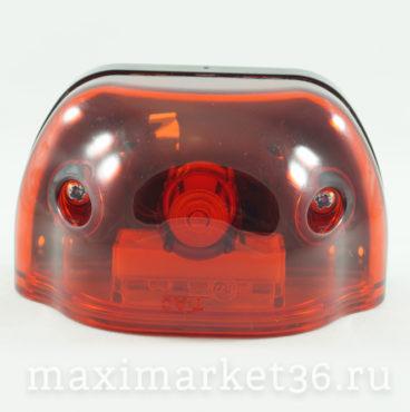 Фонарь подсветки номерного знака LED красный,волна,задный габарит(4 диода) 12 V24V DA-01891