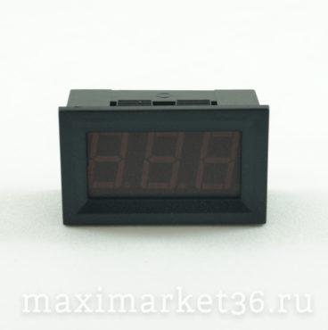 Индикатор напряжения (вольтметр) цифровой врезной 10025 (в корпусе)
