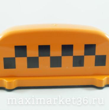 Знак TAXI дешёвый оранжевый сплошной магнит РОСТ без коробки