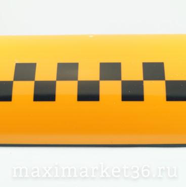 Знак «TAXI» (шашки) магнитный овальный с подсветкой (6 магнитов) оранжевый Рост