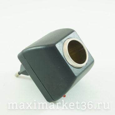 Адаптер -ЗУ c220V на 12V ( 018) 450 mA 4428 чёрный
