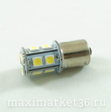 Автолампа P21W (BA15s-одноконтактная) 13 SMD (50x50) WHITE 12V HIT