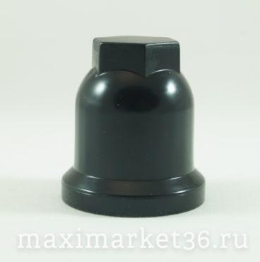 Колпачок на колёсную гайку 32 мм высокий чёрный 01428