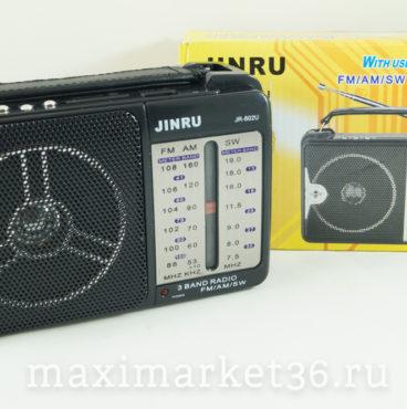 Портативная колонка 251FM приёмник 802U чёрный JINRU 3895