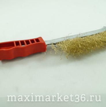 Щётка по металлу Польша (с пласт. ручкой) 24