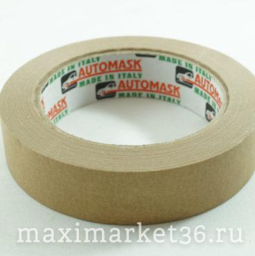 Скотч малярный Автомаск №25 (36) коричневый высокотемпературный