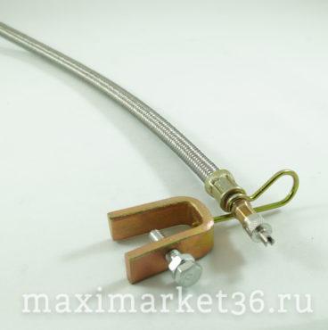 Удлинитель подкачки в металлической оплётке 35см с кронштейном (шланг подкачки,гофра)NP349