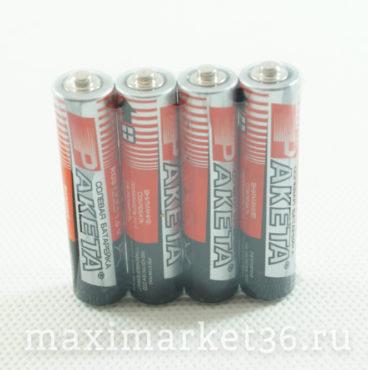 Батарейка Ракета мизинчик R03 12В солевая термоспайка