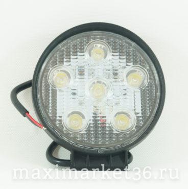 Ходовые огни круглые 6 SMD 18W (45255) чёрный корпус (1шт)