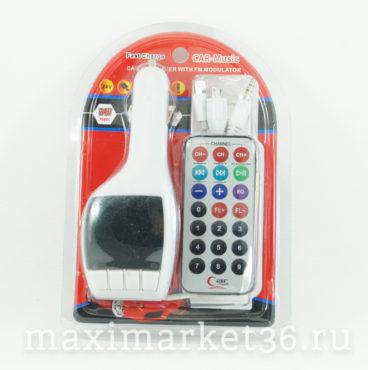 Модулятор FMMP3USBCD с пультом 009 103FM белый (micro SDHC,AUX,USB) 9330
