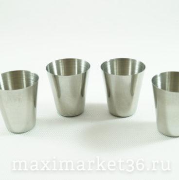 Набор стаканов (4шт) в чехле (нержавейка) МАЛЫЕ 50мл