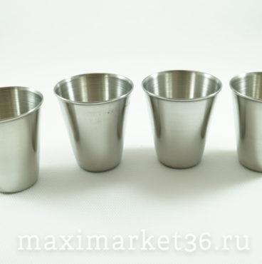 Набор стаканов (4шт) в чехле (нержавейка) СРЕДНИЕ 70мл