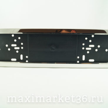 Рамка номера металлическая (хром) на пластик.адаптере YFX8050(ZK8313) (40)