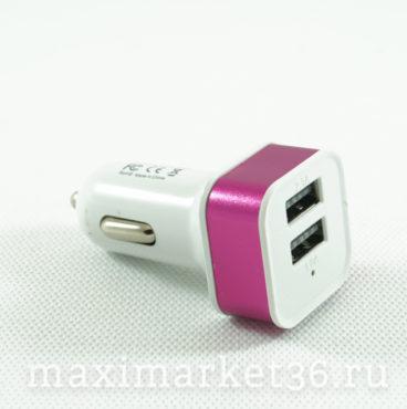 Штеккер прикуриват. с 2 USB(1,1А. 2,1А)(012,8934бел;023,2945чёрн;016.1803бел;055,7976)NOKOKO(радуга)