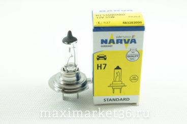 Автолампа H7 (12-55) PX26d 12V NARVA 10100 HIT N-48328